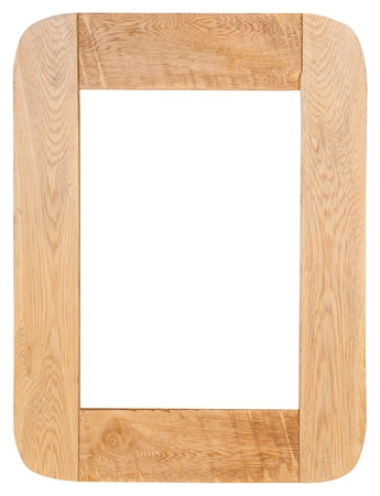 Wood frame isolated on white background photo