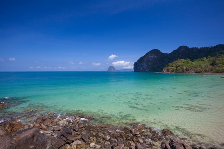 trang: Mountain and the clear sea Trang south of Thailand