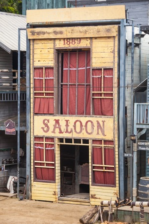 ghost town: Saloon in Wild West style