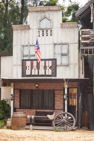 bank western: Bank in Wild West style Editorial