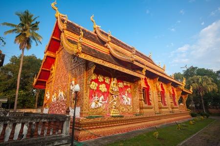 kathmandu: Wat phra that lampang luang with blue sky, Thailand
