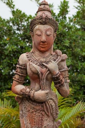 thai style: Thai style angel statue in Thailand Stock Photo