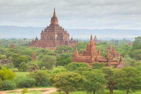 asian travel: Ancient pagodas in Bagan Mandalay, Myanmar