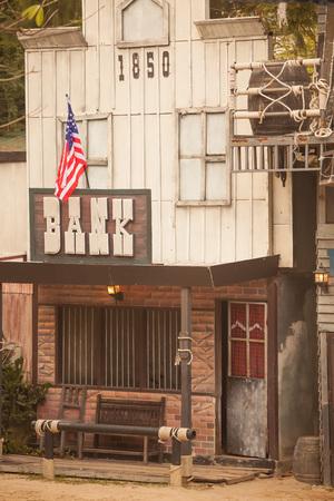 gunfights: Bank in Wild West style Stock Photo