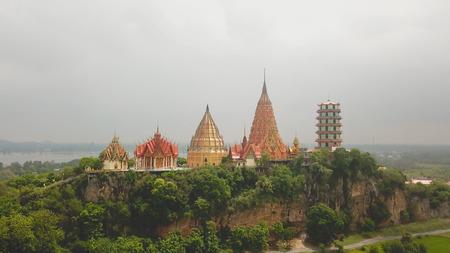 Aerial view of Wat Tham Sua, Kanchanaburi, Thailand