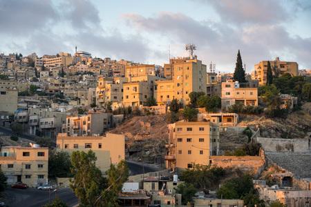 Vue aérienne de la ville d'Amman, la capitale de la Jordanie Banque d'images