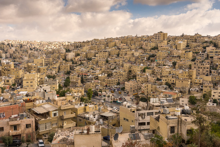 Aerial view of Amman City, The capital of Jordan Imagens