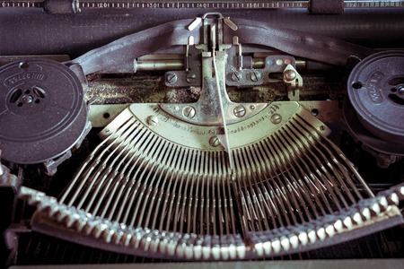 Cose up of old vintage typewriter