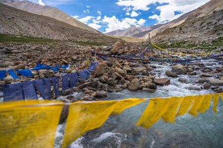 Buddhist prayer flags, Ladakh Leh, Ladakh, Jammu and Kashmir, India