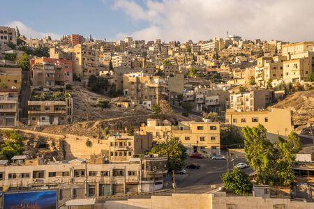 Vue aérienne de la ville d'Amman, la capitale de la Jordanie