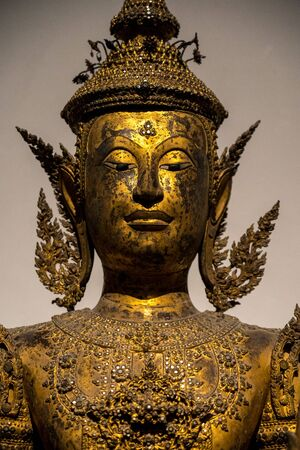 Statue of Buddha on black color background