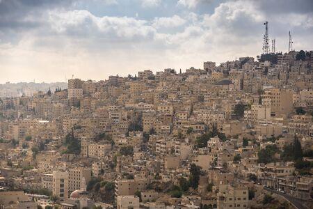 Aerial view of Amman City, The capital of Jordan