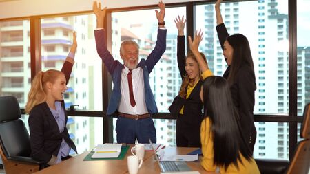 Group of business people achieving goals 版權商用圖片 - 134715965