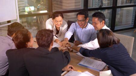 Business Team Stack Hands Support Concept 版權商用圖片 - 134715452