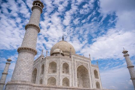 The morning view of Taj Mahal monument , Agra, India