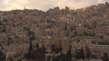 Aerial view of Amman City, The capital of Jordan 版權商用圖片 - 136868657