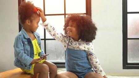 Portrait of happy little smile african kids 版權商用圖片 - 136913279