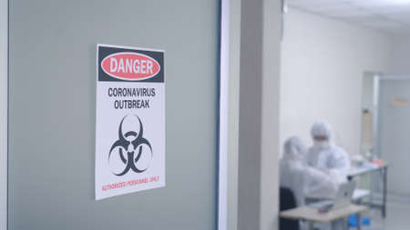 The doctor is searching for Corona-virus Covid 19 vaccine In the laboratory Standard-Bild
