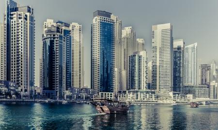 e u: Dhow sailing into the Marina
