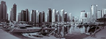 e u: Marina with High Rise Buildings