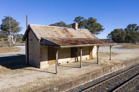 Old train station near a railway track in rural New South Wales, Australia. Reklamní fotografie