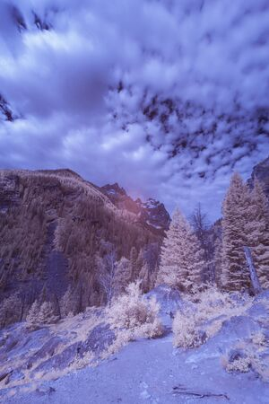 A mountain in Montana taken in Infra Red.