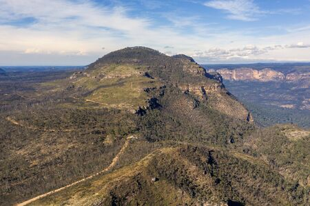 Mount Banks in The Blue Mountains in Australia Stock Photo
