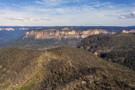 The Explorers Range in The Blue Mountains in Australia
