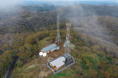 Communication towers on Mount Canobolas in the New South Wales regional town of Orange