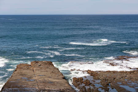 A view of the South Pacific Ocean from Norah Head on the central coast in regional New South Wales in Australia