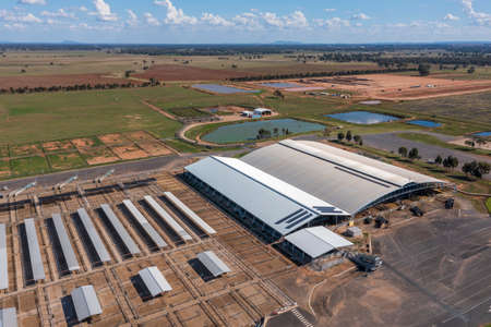 The Central West Livestock Exchange sale yards near Forbes in regional New South Wales in Australia