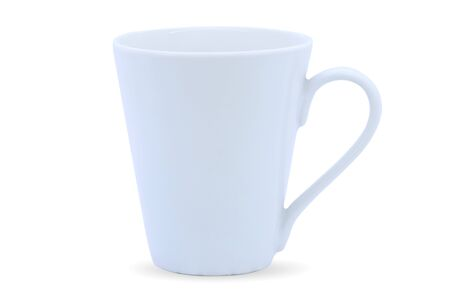 White mug or coffee cup isolated on white background