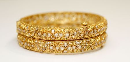 gold metal: gold jewellery Stock Photo