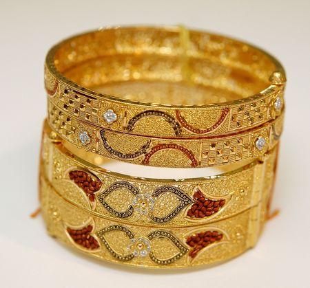 gold metal: bangles