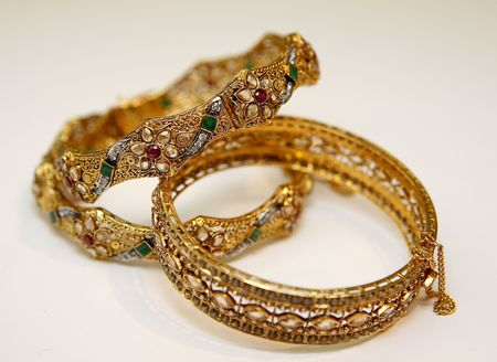 gold jewellery Stok Fotoğraf