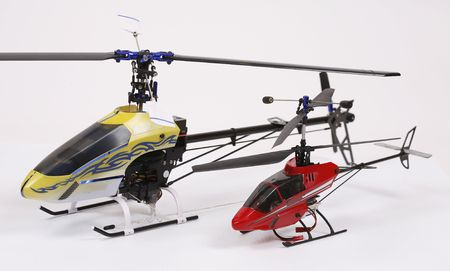 two toy helicopter