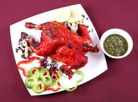 full tandoori chicken for dinner