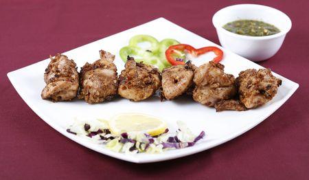 kebab in platter Фото со стока