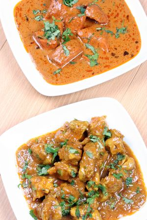 butter chicken and chicken curry
