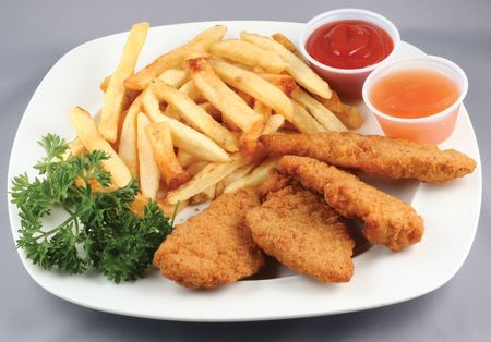 fries: chicken strips combo