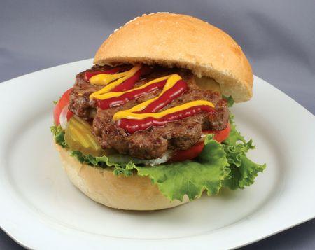 ham burger Stock Photo - 6151476