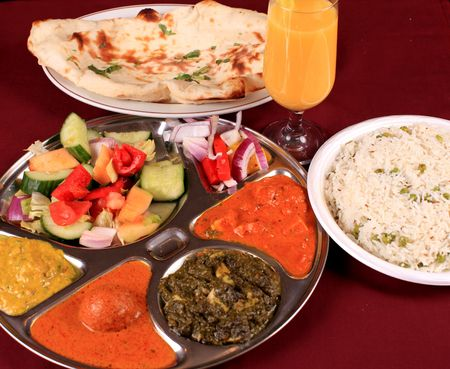 mouthwatering: indian thali combo