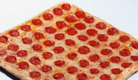 square: square pizza