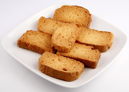 biscotte: th� rusk Banque d'images