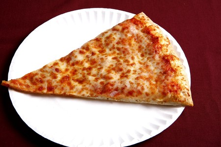 cheese pizza slice 写真素材
