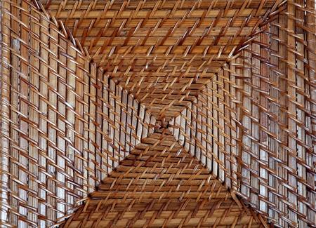 square: square wicker plate Stock Photo