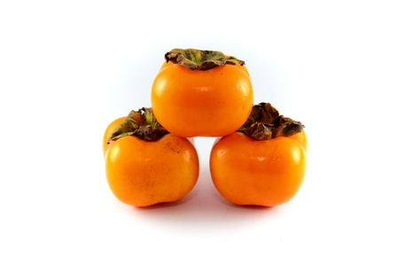 A Persimmon fruit in the my garden photo