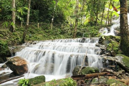 Waterfall at maekampong home stay