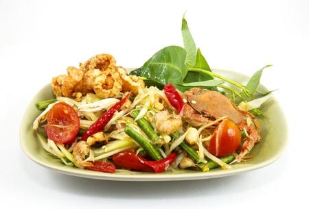 The thailand Green papaya salad Stock Photo - 15789195