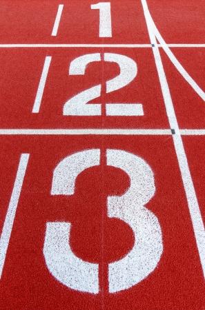 Track start point for running Stock Photo